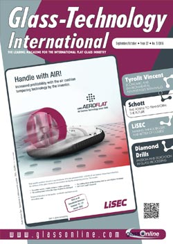 Cover of Glass-Technology International n.5/2016