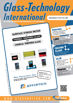Cover of Glass-Technology International n.1/2018