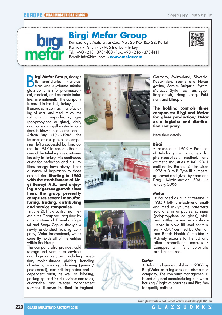 Page 222 - Glass Industry Directory 2018
